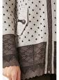 Sementa Kadın Kapüşonlu Fermuarlı Triko Ceket  Kahve